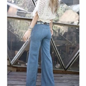 Free People Waiting for the Sun Bell Bottom Jeans